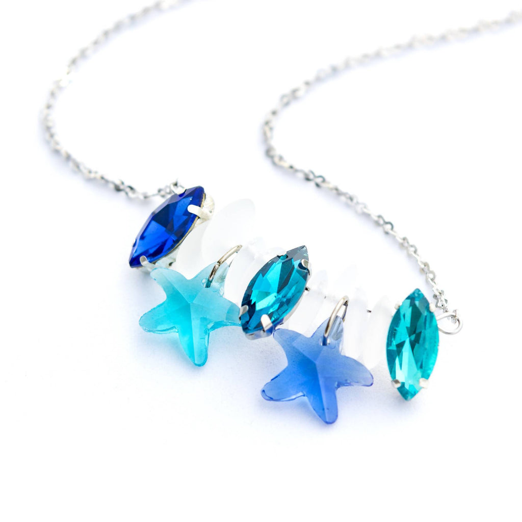 Blue Sea & Star Necklace