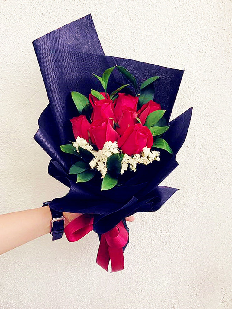 Red Rose Hand Bouquets
