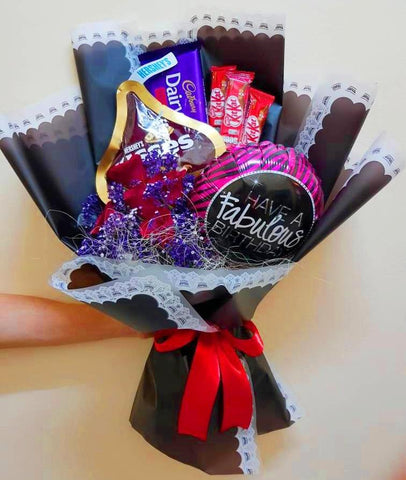 Fabulous Birthday Chocolate Roses Bouquet