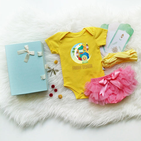 TeezBee Happy GIRL Raya Mood On Baby Romper Gift Set