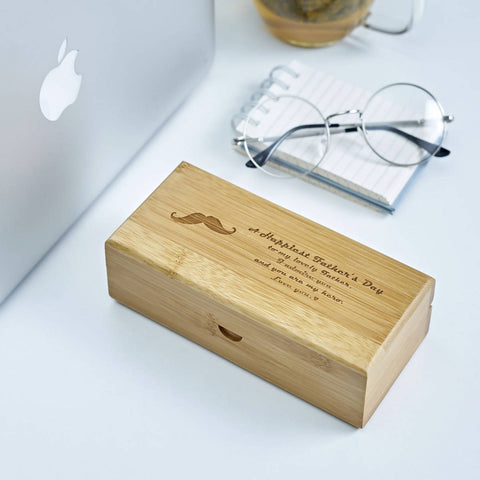 Personalized Bamboo Glasses Case (4-6 working days) - Father's Day