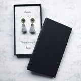 Grey Tassel Earrings (Pre-order 15 to 25 working days)