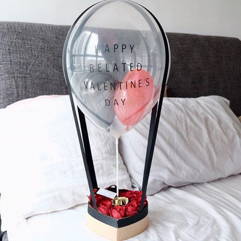 My Only One Hot Air Balloon Flower Box (Valentine's Special)