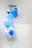 Personalised Bubble Balloon with Latex Helium Balloon Set for Bridal Shower/ Wedding