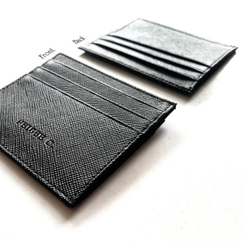 For Him Leather Gift Set B - Stylish Keychain + Multi Card Slot Slim Wallet