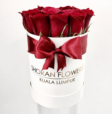 Mini Box of Roses - White