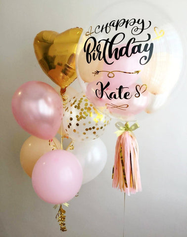 Blush Pink Bubble Balloon Set
