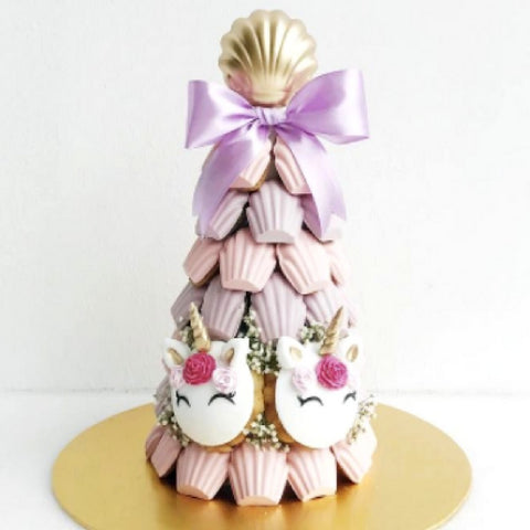 Pastel Pink and Pastel Purple Unicorn Madeleine Tower