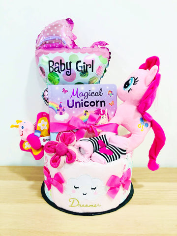 SET C Baby Girl Diaper Cake (Nationwide Delivery)