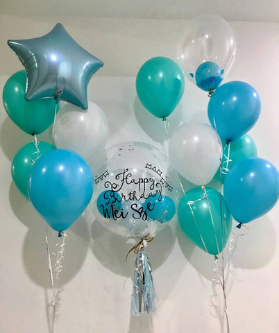 Tiffany Blue Balloon Bouquet