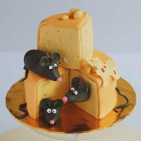 Mice Eating Cheese Cake