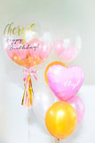 Personalised Bubble Balloon with Foil & Latex Helium Balloon Set