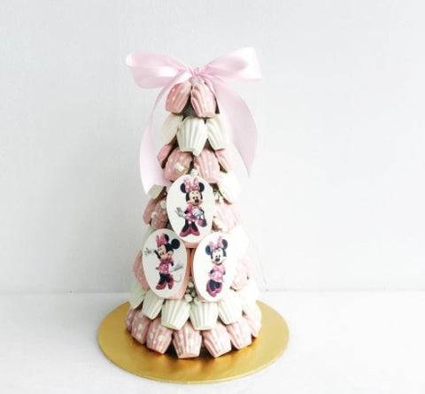 Polka Dot Pink & White Minnie Theme Madeleine Tower