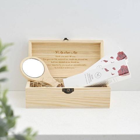 Pure Rose Essence Gift Set (4-6 Working Days) With Personalised Wordings and Image