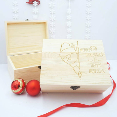 Personalised Christmas Wooden Gift Box