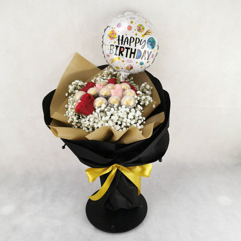 Chocolate Balloon Flower Bouquet 22