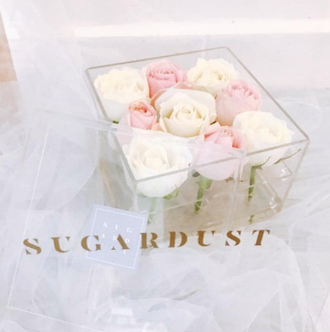 Sugardust Acrylic Flower Box
