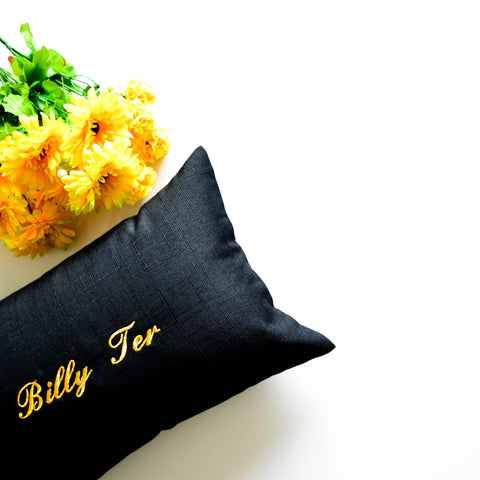 Personalised Linen Pillow
