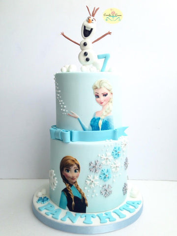 2 Tier Frozen Theme Fondant Cake