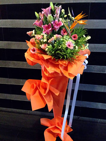 Flower Stand (Orange Themed)