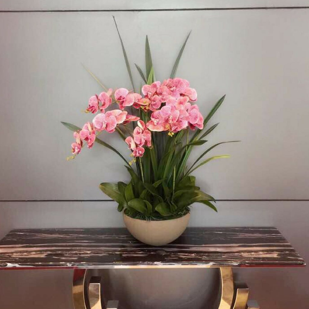 Artificial Pink Orchid in Vase