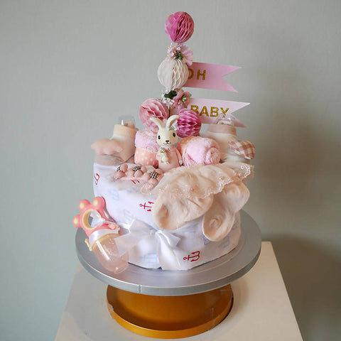 Oh Baby Girl Nappy Cake (Penang Delivery only)