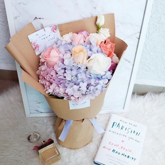 Spring Pastel Roses Mix Hydrangea