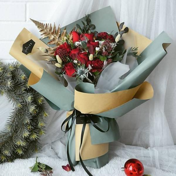 Jolly Rendezvous Flower Bouquet (Large) - Christmas 2018