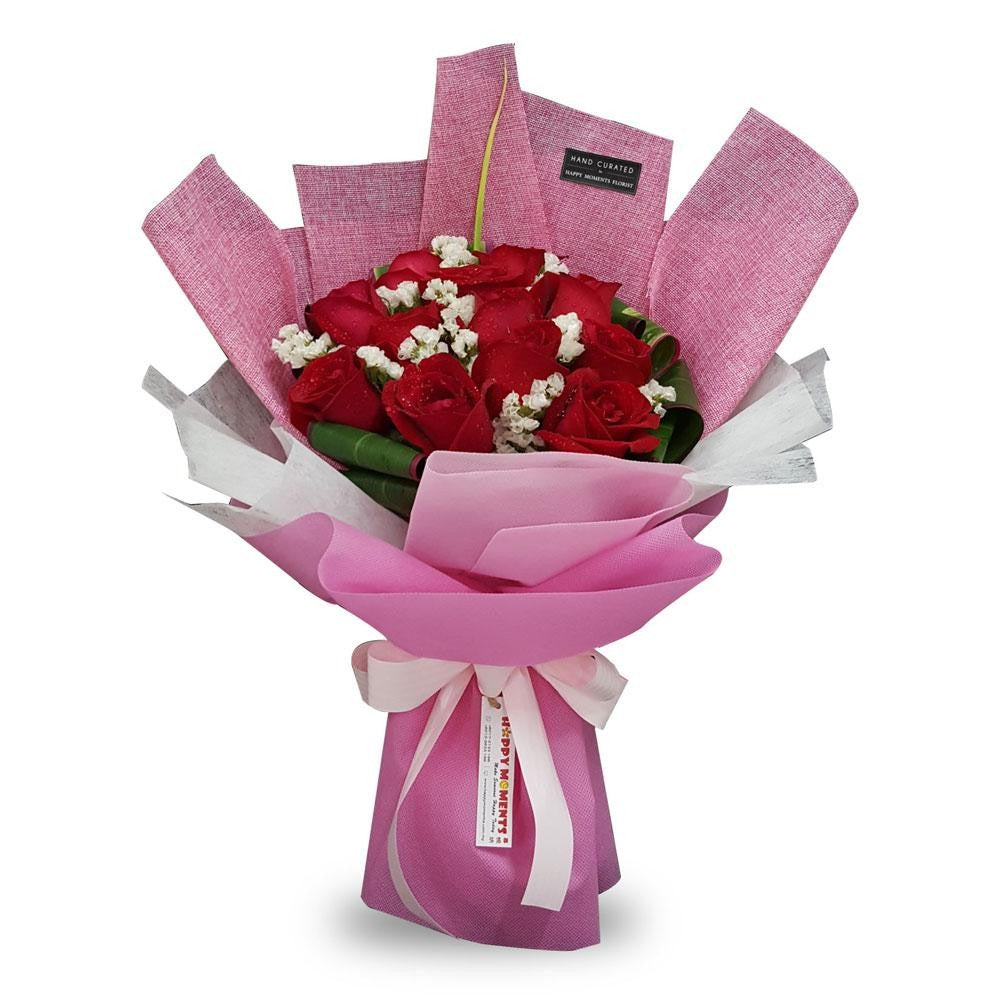 Adoration Red Roses Bouquet (Penang Island Delivery)
