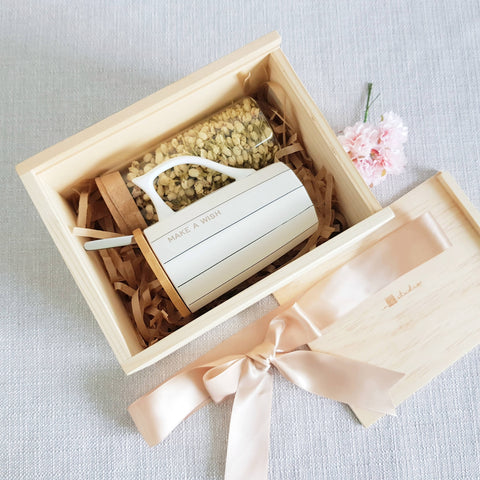 FLOWER TEA PINE WOOD GIFT SET 04 - JASMINE (Nationwide Delivery)