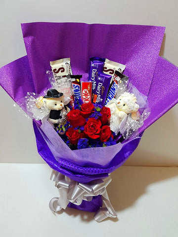 Marry Me Roses & Chocolate Bouquet