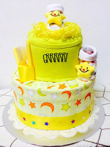 Lemon Twinkle Diaper Cake