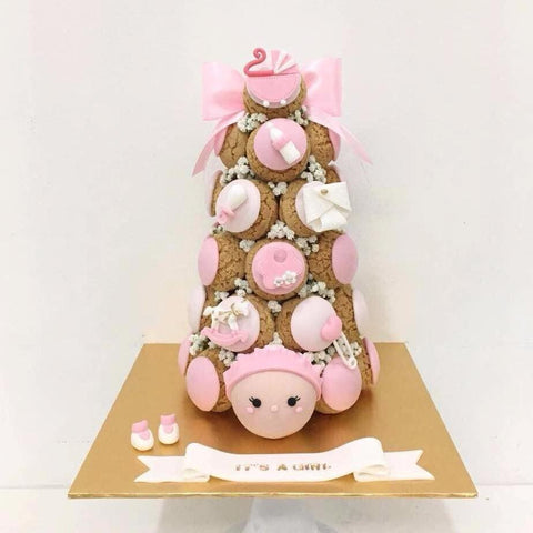 It's A Girl Croquembouche Tower