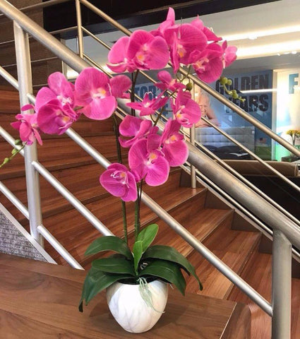 Artificial Purple Orchid in Vase