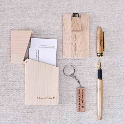 Personalized Wooden Office Gift Set (4-6 Working Days)