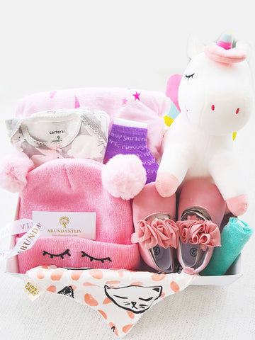 Unicorn Baby Girl Gift Basket (Nationwide Delivery)