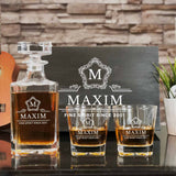 Personalized Whiskey Decanter Set (Design 4) (6-8 working days)
