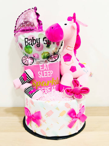 SET A Baby Girl Diaper Cake (Nationwide Delivery)
