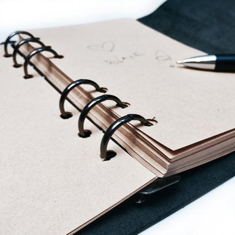 Stylish Leather Notebook / Journal - Clutch Design