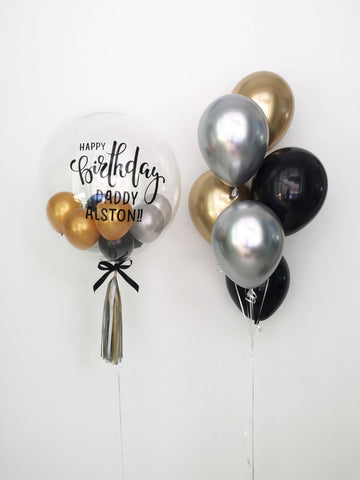 "24"" Deluxe Chrome Bubble Balloon Bouquet"