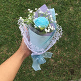 Single Paper Rose with Baby's Breath in Box