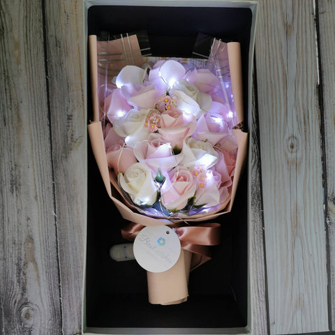 Flower Bouquet Gift Box 65-Soap Roses