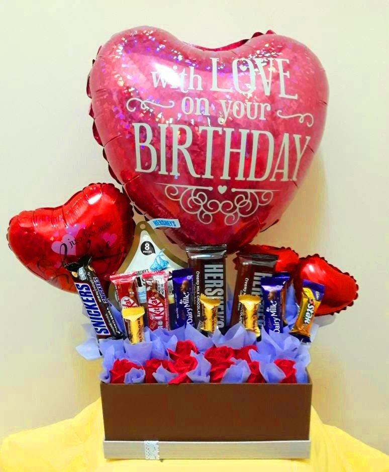 Birthday Chocolate Box with Soap Roses