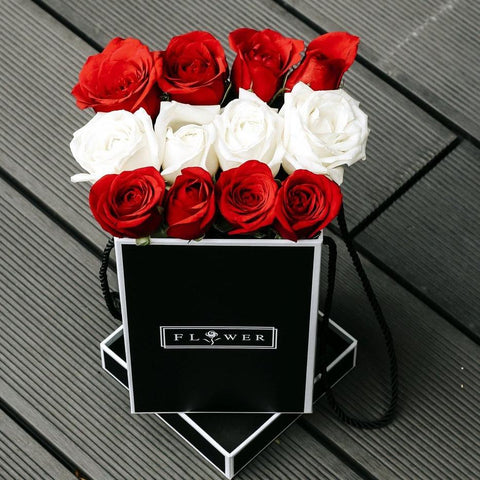 Darling (Red & White Roses)