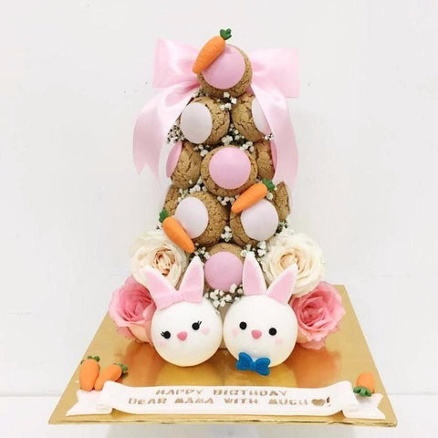 Bunny Croquembouche Tower
