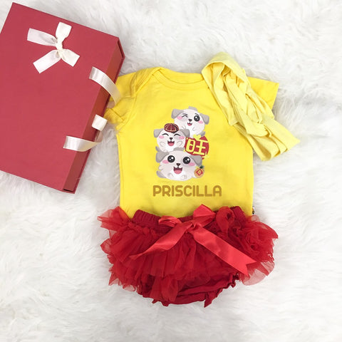 Happy and Adorable ONG Puppies (Red Tutu+Headband+GiftBox)