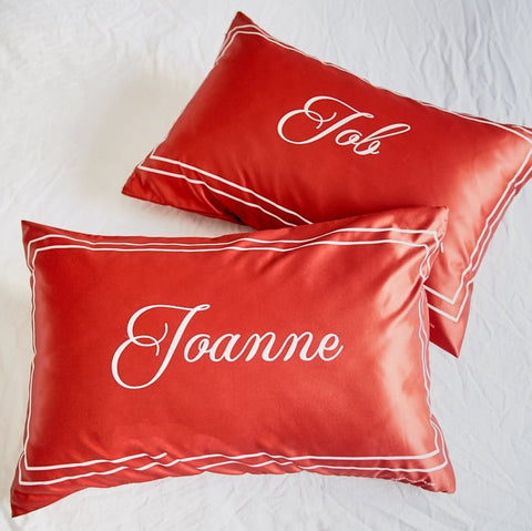 Personalised SCRIPT Pillowcases (Pre-order 2-4 weeks)