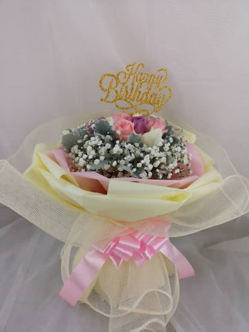 Happy Birthday Pastel Roses