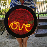 99 Red Soap Roses with Love LED Light