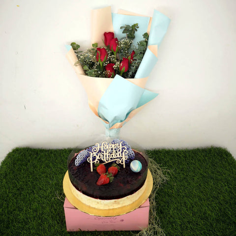 Flowers & Cake - Birthday 01